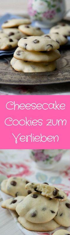 Diese Cheesecake Cookies lieben nicht nur die Kinder - mit Chocolate Chips und superweich.