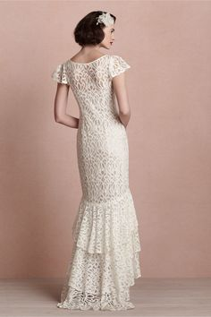 Back view of Flamenca Gown in Bride Wedding Dresses at BHLDN