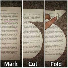 Book fold/cut vase