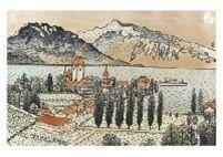 Switzerland Lake by Kiyoshi Yamashita