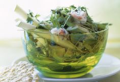 Maine Crab, Green Apple and Avocado Salad with Parmesan Tuiles