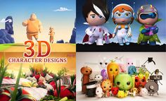 5 Award Winning 3D Animated TV Commercials and Character designs. Follow us www.pinterest.com/webneel