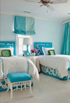 Dormitorios juveniles color turquesa cambres infantils i for Cuartos de nina color turquesa