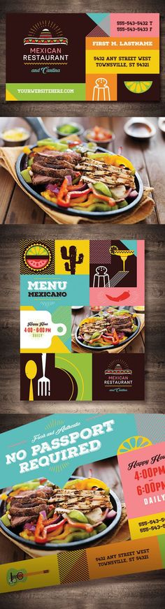 Mexican restaurant template design by StockLayouts