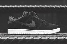 The Nike Dunk Low Gets A Premium Black Suede Makeup
