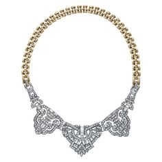 Art Deco Convertible Statement Necklace. Chloe + Isabel - affordable, hypoallergenic, timeless and fashionable jewelry. #chloeandisabel