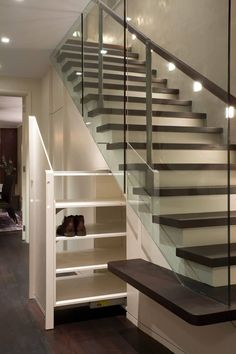 Nice 72 Brilliant Under Stairs Storage Ideas That Make Your House Look Stunning Understairs Storage Brilliant House Ideas Nice stairs storage Stunning Boot Room Storage, Shoe Storage Under Stairs, Staircase Storage, Under Stairs Cupboard, Open Staircase, Stair Storage, Staircase Design, Stair Design, Interior Staircase