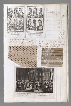 1746-1823 Album with textile samples and fashion plates, compiled by Barbara Johnson, England 3