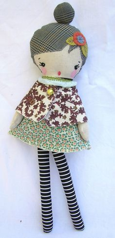 Jane..Nature Doll by nooshka by nooshka on Etsy