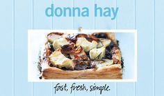 Caramelised Onion, Potato And Feta Tart | Donna Hay Fast Fresh Simple | The Home Channel