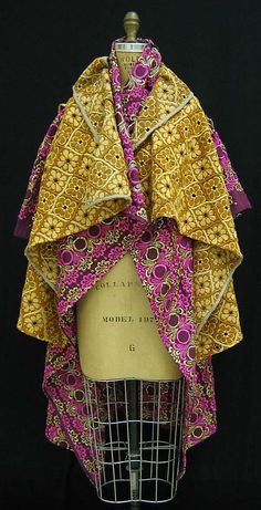 Comme des Garçons fall winter collection,1999–2000. Silk, metallic thread and wool.