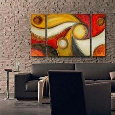 Canvas Painting Set, Abstract Art, 3 Panel Wall Art, Large Oil Painting, Contemporary Art - Silvia Home Craft Abstract Art For Sale, Contemporary Abstract Art, Abstract Wall Art, Painting Abstract, Contemporary Building, Farmhouse Contemporary, Contemporary Apartment, Contemporary Wallpaper, Contemporary Office