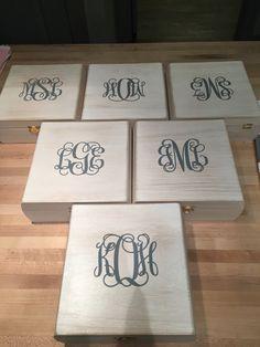 DIY bridesmaid boxes!!