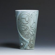 Ryan McKerley Large Tumbler--ok, so it's not exactly sgraffito, but mighty nice incision work