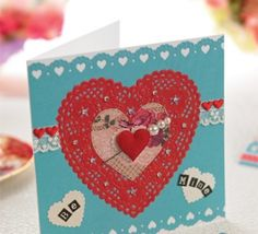Heart Doily Valentine's Day Card
