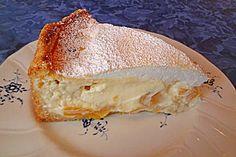 Vanille - Käse - Kuchen mit Pfirsichen