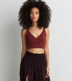 AEO Wrap Sweater Crop Tank