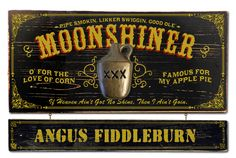 #moonshine Northwest Gifts - Vintage Moonshiner Plaque with Custom Hanging Name Plank, $129.95 (http://northwestgifts.com/vintage-moonshiner-plaque-with-custom-hanging-name-plank/)