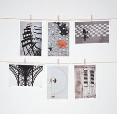 Postcard Set Paris Black and White Minimalist by LoVedoArt on Etsy, $22.00