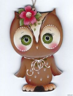OWL - Based on a Jamie Mills-Price design... handpainted by Pamela House