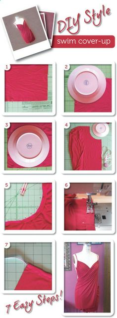 Super easy DIY Swim cover up designed by DIYStyle.- Super easy DIY Swim cover up designed by DIYStyle. Love this cover up, but the l… Super easy DIY Swim cover up designed by DIYStyle. Love this cover up, but the link doesn& go a tutorial. Sewing Hacks, Sewing Tutorials, Sewing Crafts, Sewing Projects, Sewing Patterns, Sewing Diy, Sewing Ideas, Swim Cover, Swimsuit Cover
