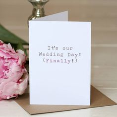 'it's our wedding day' wedding day card by slice of pie designs | notonthehighstreet.com
