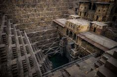 The massive subterranean structures known as stepwells first appeared in India as early as the third... - Getty Images