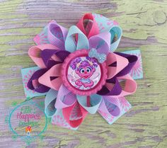 Abby Caddabby  Loopy flower Boutique hair by ElliesHappinessBows