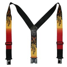 Perry Suspenders Men's Elastic Hook End Flame Suspenders (Tall Available)