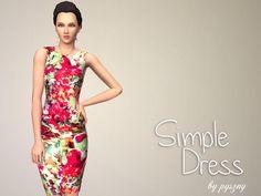 Simple Dress by Pyszny http://www.thesimsresource.com/downloads/1196189
