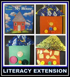 Book, My House by Lisa Desimini & Craftivity