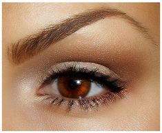natural eye makeup for brown eyes1 Natural Eye Makeup for Brown and Blue Eyes