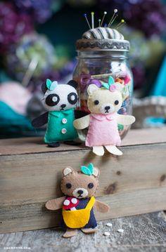 Felt Bears Sewing Pattern