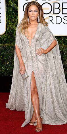 Golden Globe Awards 2015: Arrivals : People.com - Jennifer Lopez, in Zuhair Murad Haute Couture, with Lorraine Schwartz jewels
