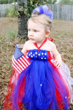 Fourth Of July Tulle Dress by BowsByBabes on Etsy, $29.99