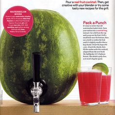 """Turn a melon into a cocktail keg!  Faucet and 5"""" Shank kit with black handle $30"""