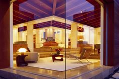 mcm of today; living room through huge glass window