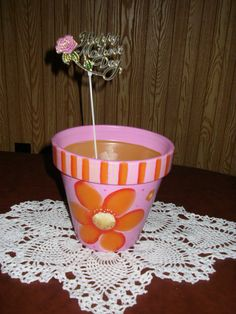 Mothers Day Hand Painted Terra Cotta Pot by SandysPaintinPlace, $8.50