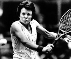 Billie Jean King was one of the greatest female tennis champions who battled for equal pay for women. She won 67 professional titles including 20 titles at Wimbledon.