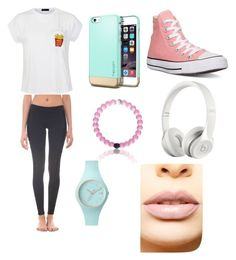 Untitled #6 by kacywyman-2 on Polyvore featuring polyvore, fashion, style, Ally Fashion, Solow, Converse, Ice-Watch, Beats by Dr. Dre and LASplash