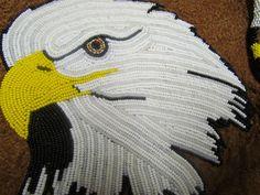 Native American Beaded Hand Bag Purse Moose Hide Leather Zippered Strap Eagle   eBay