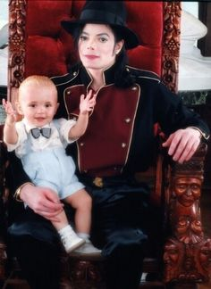 Michael with son Prince (age 1) 1998