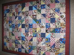 I Spy quilt for 86 year old man.  Wonderful!