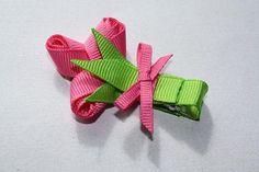 Boutique Rose Bouquet Flower Sculpture Ribbon Hair Bow. Free Ship Promo.. $4.00, via Etsy.