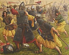 """""""One of the most blood-soaked battles in Irish medieval history took place on August at Knockdoe, a hillock in County Galway. It would prove to be one of the last old-school medieval infantry battles in the region. Medieval Knight, Medieval Armor, Medieval Fantasy, Military Art, Military History, Military Uniforms, History Taking, Irish Warrior, Celtic Warriors"""