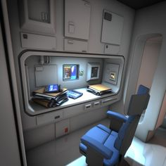 Spaceship Interior HD 3 More Spaceship Interior, Futuristic Interior, Spaceship Design, Spaceship Concept, Design 3d, House Design, Cyberpunk, Casa Bunker, Star Wars Room