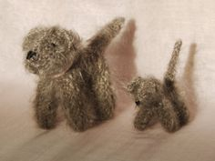 Knitted dogs with mohair waldorf toys by mamancigogne on Etsy, €20.00
