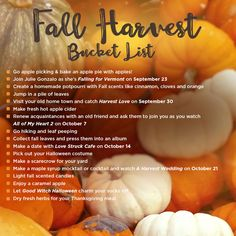 #FallHarvest Bucket List from #HallmarkChannel