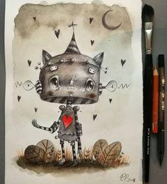 Paolo Petrangeli Rain of hearts #hearts #heart #redheart #valentinesday #love #loveislove #moon #drawing