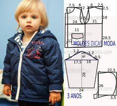 Faça a analise de forma detalhada do desenhe do molde blusão de criança. Blusão simples e belo, veste de forma descontraída e elegante.